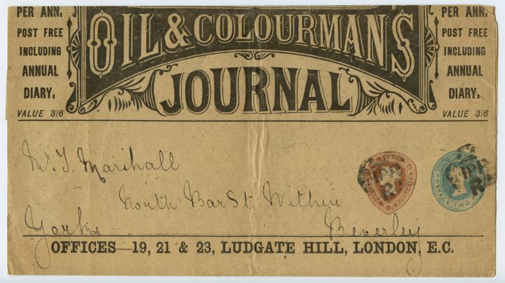 Newspaper Wrapper, Oil & Colourmans Journal