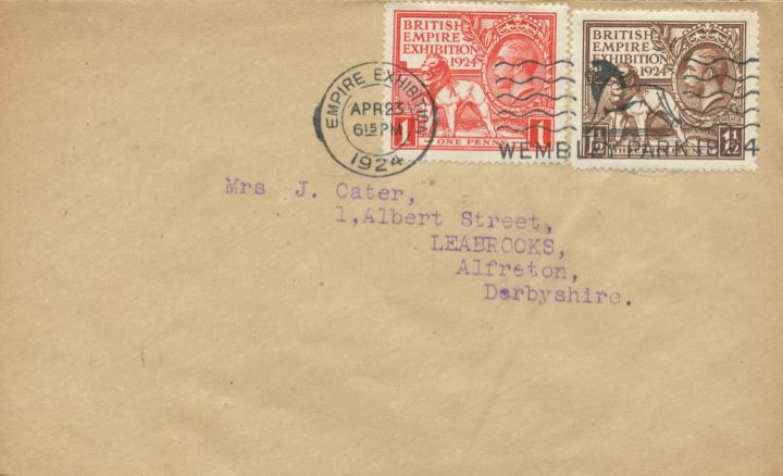 Wembley Exhibition 1924, Wembley Lion slogan postmark