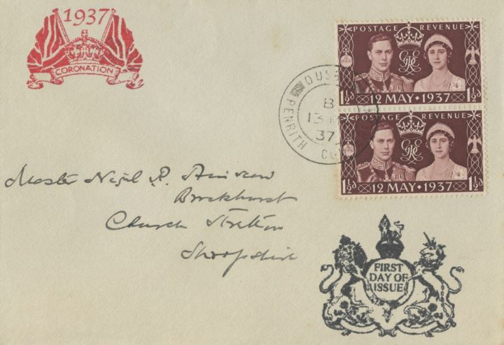 King George VI Coronation, Flags and Crown