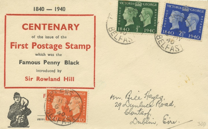 Postage Stamp Centenary, Centenary of the 1st Postage Stamp