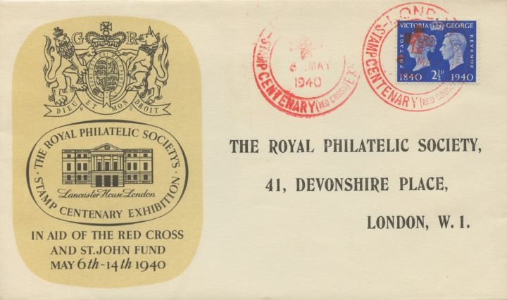 Postage Stamp Centenary, Lancaster House