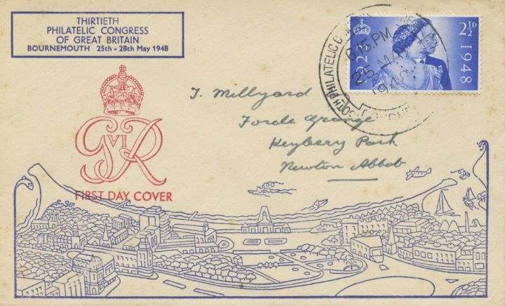 Silver Wedding 1948, Philatelic Congress Bournemouth