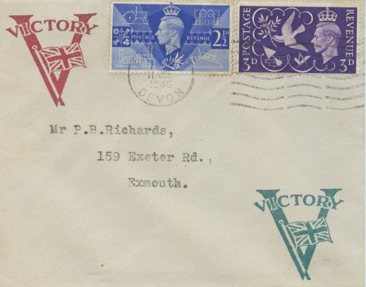 Postage Stamp Centenary, Victory V and Union Flag