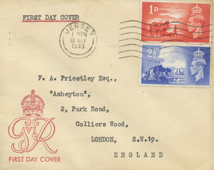 Channel Islands Liberation, Plain cover