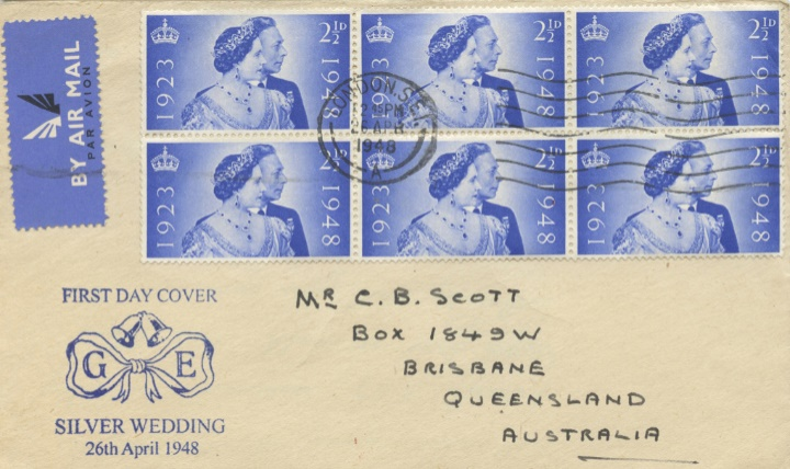 Silver Wedding 1948, Block of six