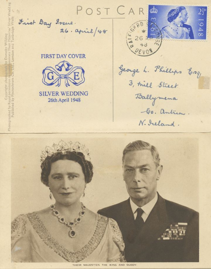 Silver Wedding 1948, The King and Queen