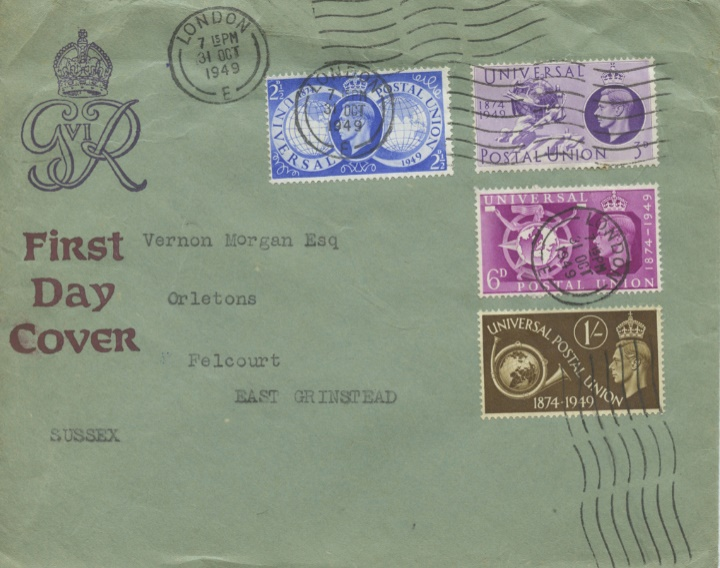 Universal Postal Union, Plain cover