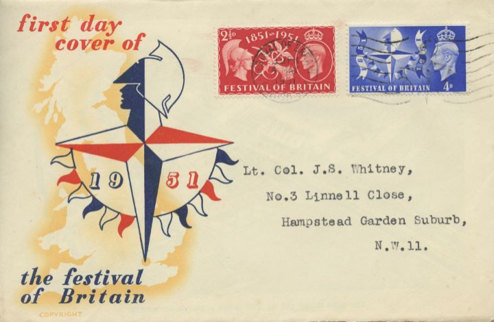 Festival of Britain, Souvenir Cover