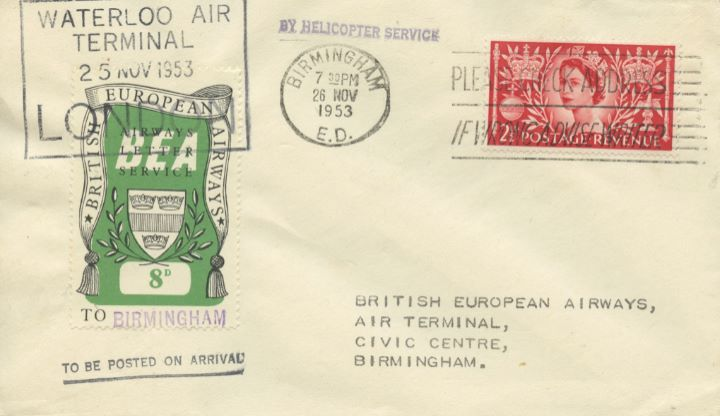 British European Airways, Waterloo Air Terminal Helcopter Service