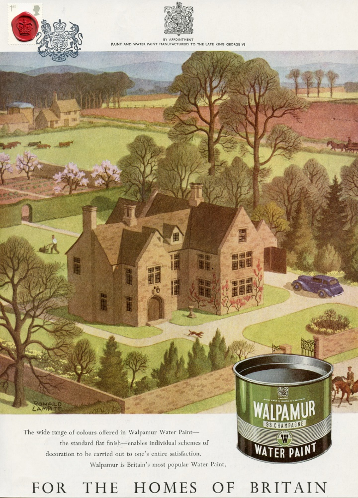Vintage Adverts, Walpamur Paint