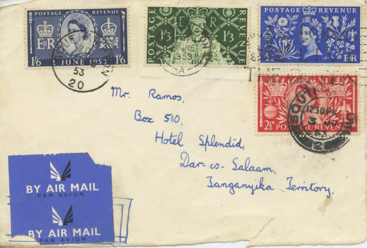 Elizabeth II Coronation, Air Mail to Tanganyika