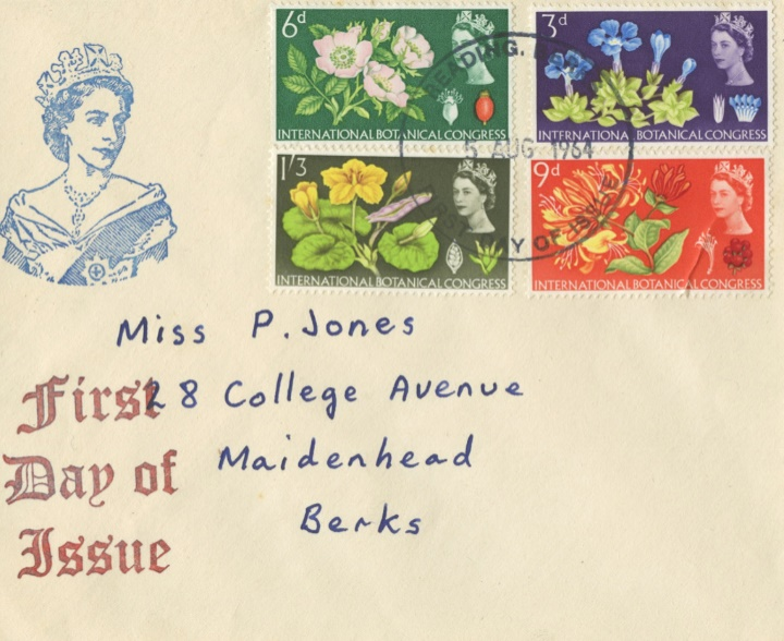 Botanical Congress, Plain cover with rubber stamp cachet