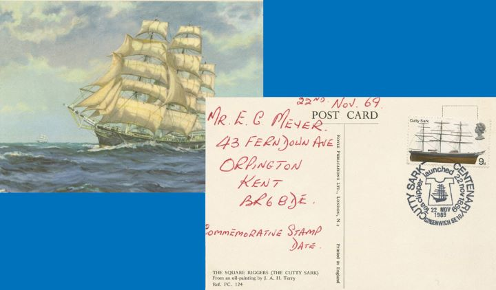 British Ships, Cutty Sark Centenary Post Card