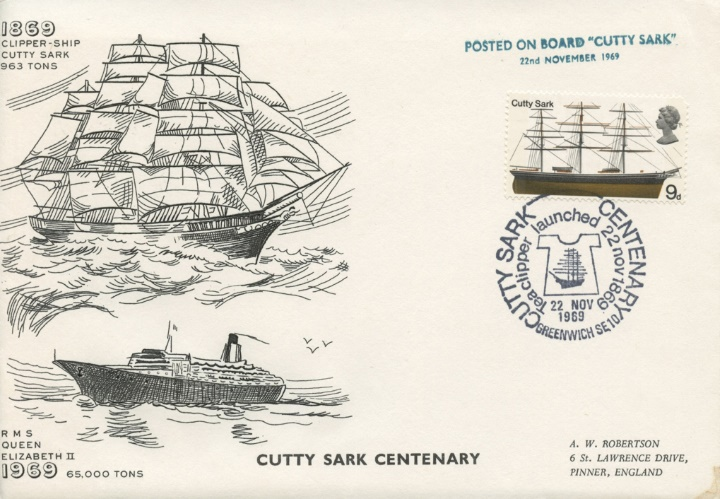 Cutty Sark & QE1, Posted on Board the Cutty Sark