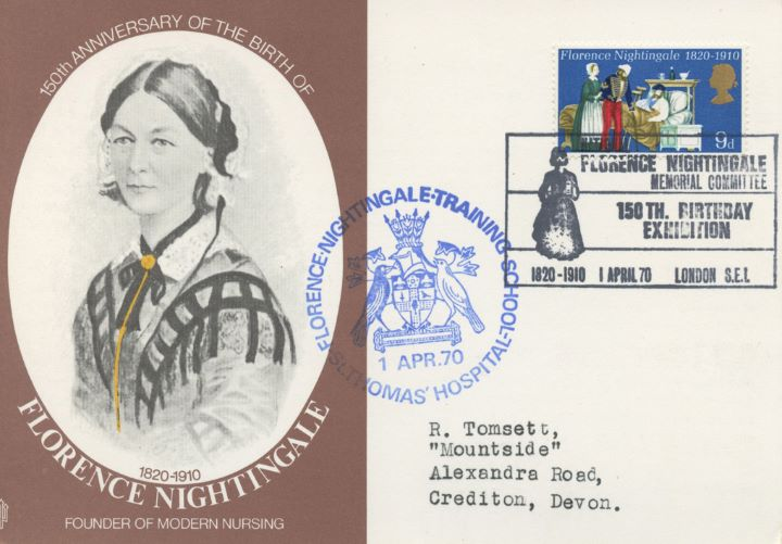 General Anniversaries 1970, Florence Nightingale Post Card