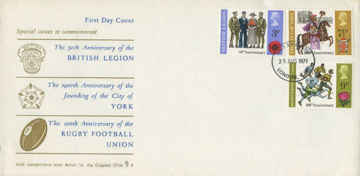 General Anniversaries 1971, British Legion, Rugby and York