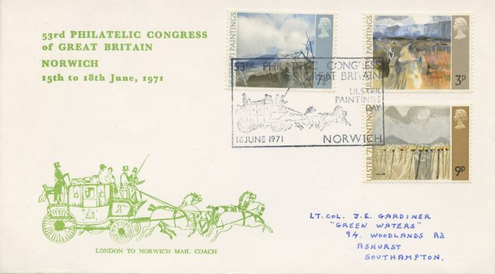 Ulster '71 Paintings, Philatelic Congress