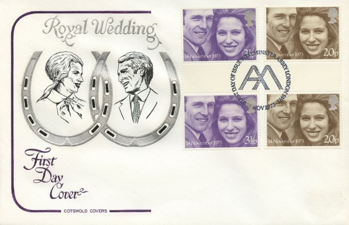 Royal Wedding 1973, Gutter Pairs on cover