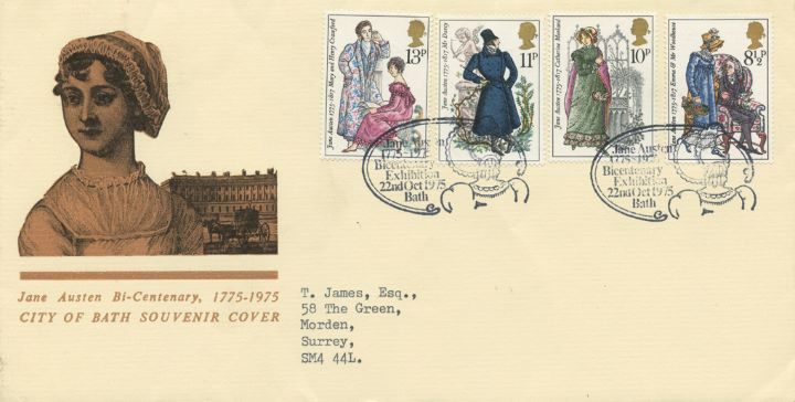 Jane Austen, City of Bath Souvenir Cover