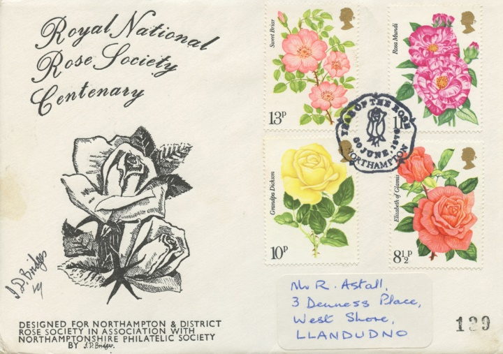 Roses 1976, Northampton Philatelic Society