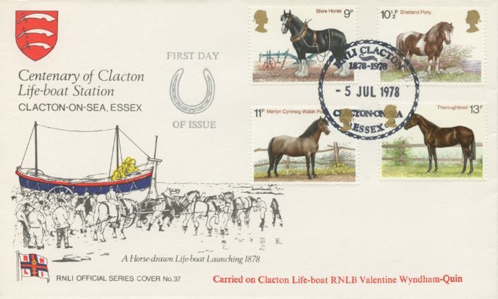 Shire Horse Society, A Horse-drawn Life-boat 1878