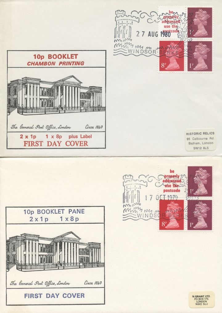 Vending: New Design: 10p 'London 1980', Pair of Covers GPO London