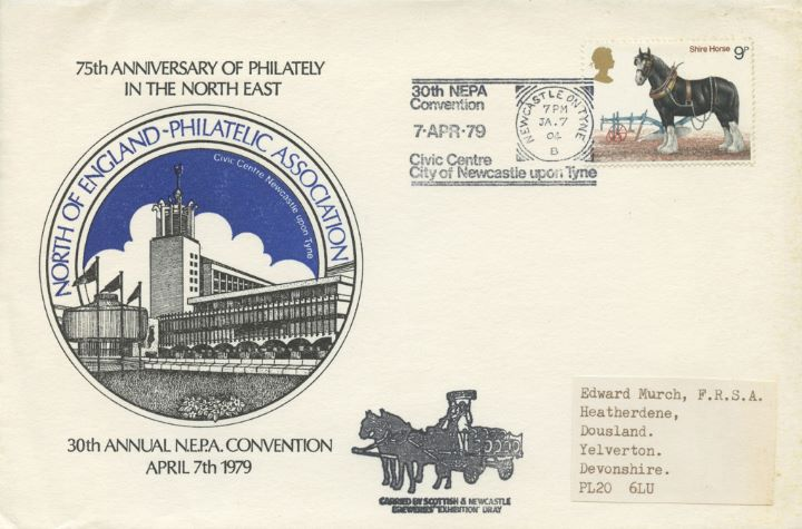 Civic Centre Newcastle upon Tyne, North of England Philatelic Society