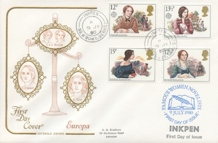 Famous Women Authors, Inkpen Postmark