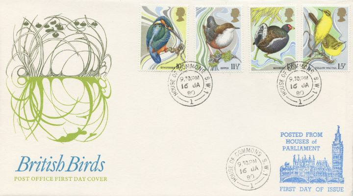 British Birds 1980, Posted from the Houses of Parliament