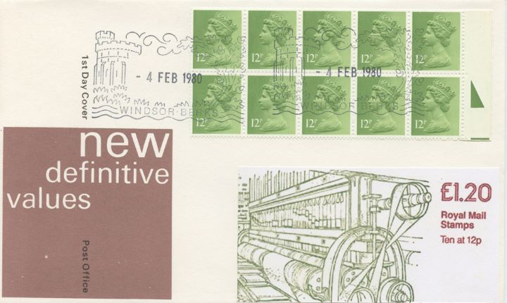 Counter: New Design: £1.20 Ind. Arch. 2 (Beetle Mill), New Booklet