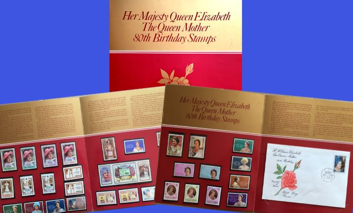 Queen Mother 80th Birthday, Commonwealth Collection of special stamps