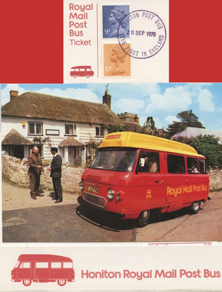 Honiton Post Bus, First Post Bus in England