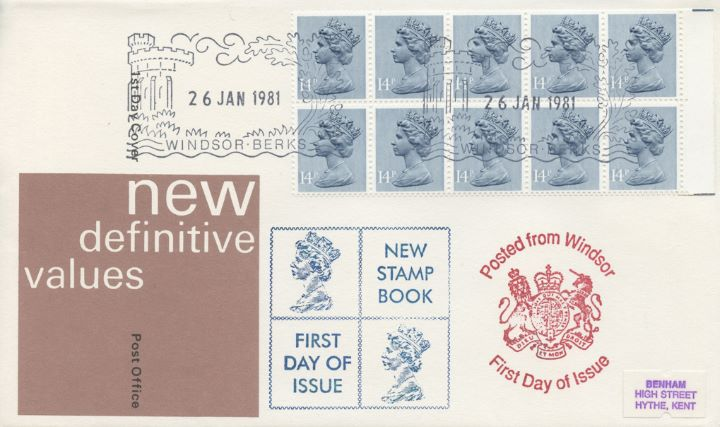 Counter: New Design: £1.40 Ind.Arch. 5 (Preston Mill), New Booklet
