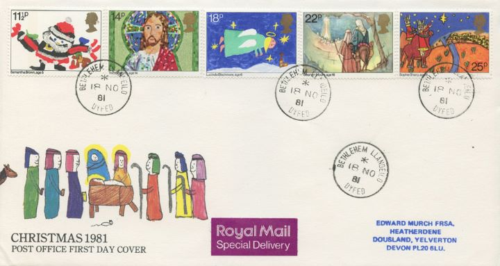 Christmas 1981, Postmarked at Bethlehem