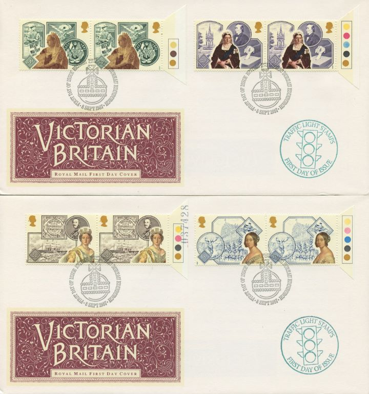 Victorian Britain, Traffic Light stamps - pair