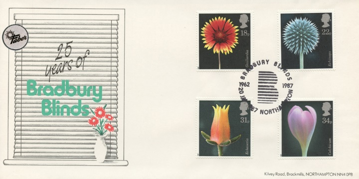 Flowers, Bradbury Blinds