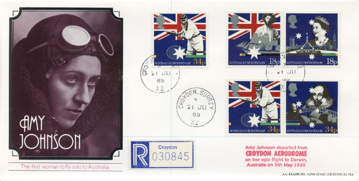 Australian Bicentenary, Amy Johnson