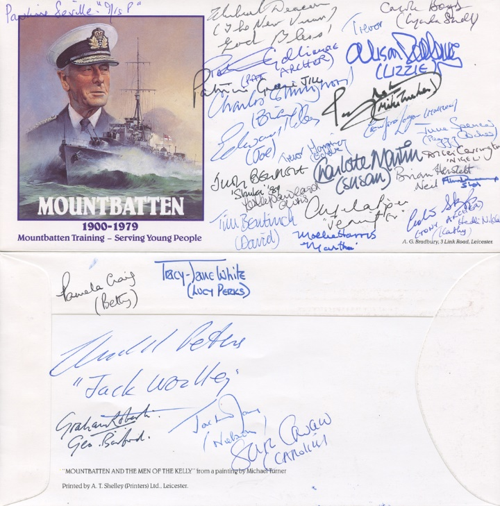 1989 Cast of the Archers, Mountbatten Training Cover