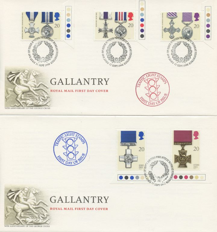 Gallantry, Traffic Light stamps - pair