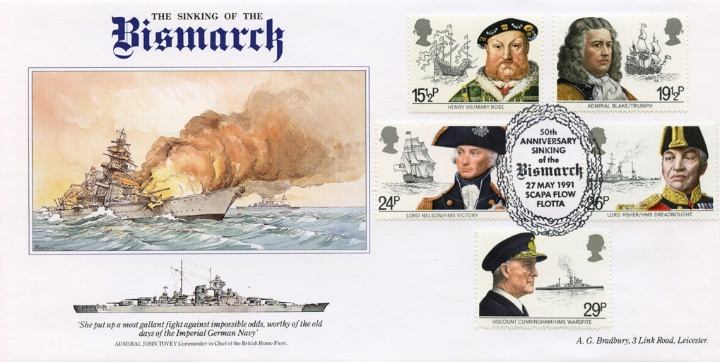 Bismarck, 50th Anniv. Sinking of the Bismarck