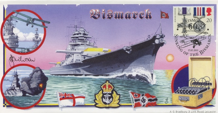 Sinking of the Bismarck, 60th Anniversary Cover