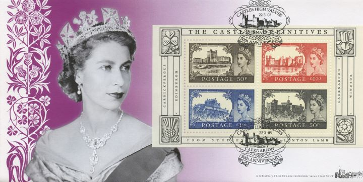 Castles: Miniature Sheet, H M The Queen by Dorothy Wilding