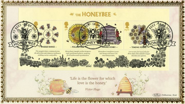 Bees: Miniature Sheet, Life is the flower for which love is the honey