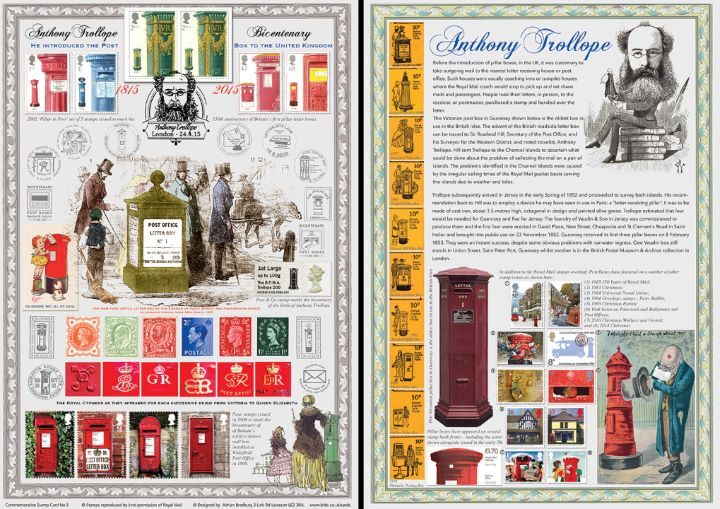 Anthony Trollope [Commemorative Sheet], Bicentenary of Anthony Trollope