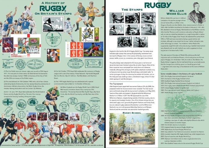 Rugby World Cup, History of Rugby on Stamps