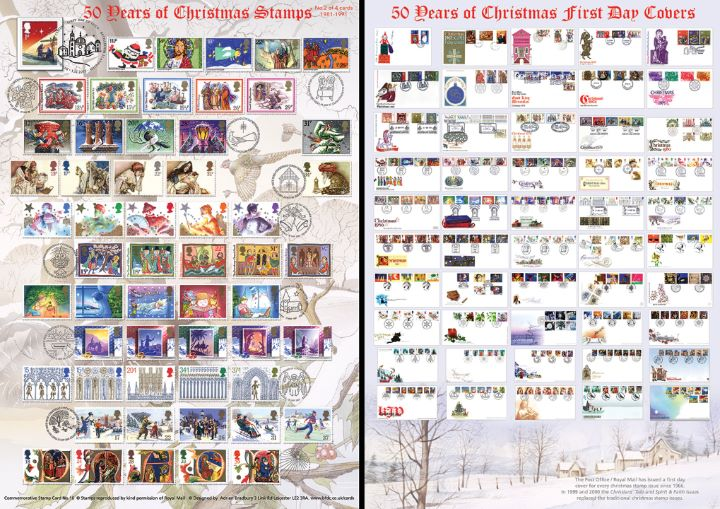 Christmas 2015, 50 Years of Christmas Stamps (Part 2)