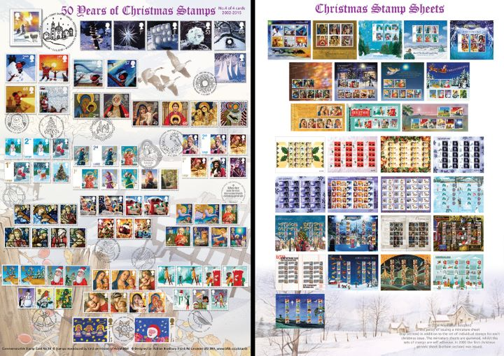 Christmas 2015, 50 Years of Christmas Stamps (Part 4)