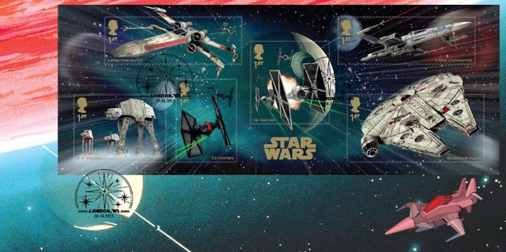 Star Wars: Miniature Sheet, Science Fiction Cover 3
