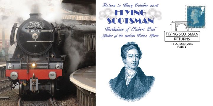 Flying Scotsman, Return to Bury Birthplace of Robert Peel