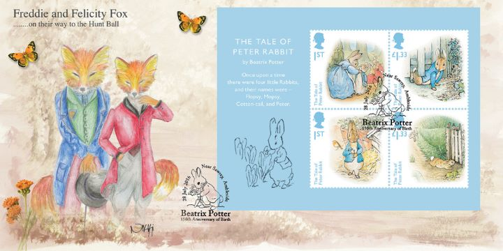 Beatrix Potter: Miniature Sheet, Freddie and Felicity Fox
